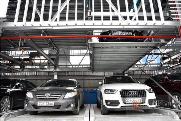 Hệ thống đỗ xe tự động nâng hạ đơn giản
