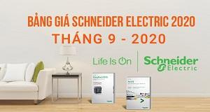 Bảng giá đại lý Schneider 9.2020  Công tắc, ổ cắm điện và phụ kiện