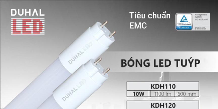 Bóng tuýp Led Duhal đạt tiêu chuẩn chống nhiễu EMC
